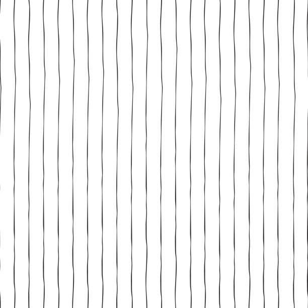 Black vertical hand drawn lines seamless vector vector art illustration