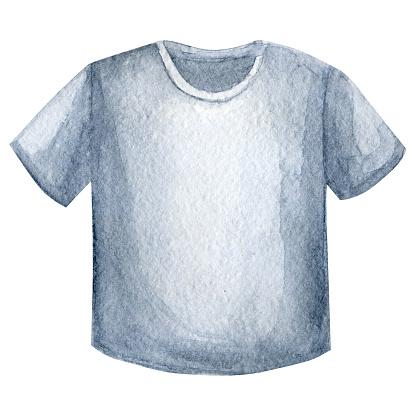 Black watercolor t-shirt design template. Watercolour sketch