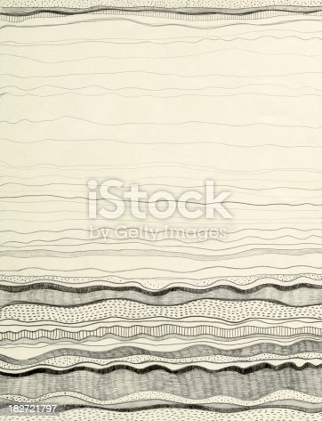 Image of the hand drawn picture of the abstract sea