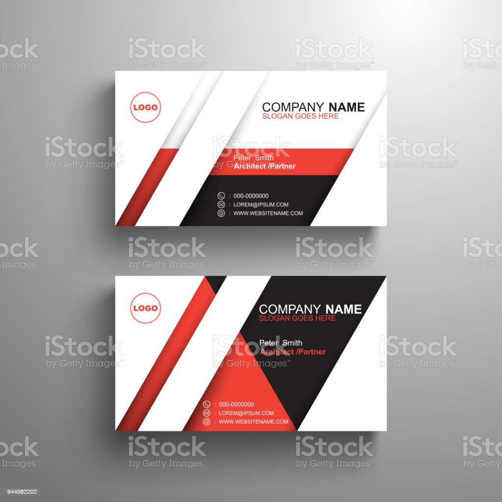 Black white red design business card template name card vector black white red design business card template name card vector illustration royalty free accmission Gallery