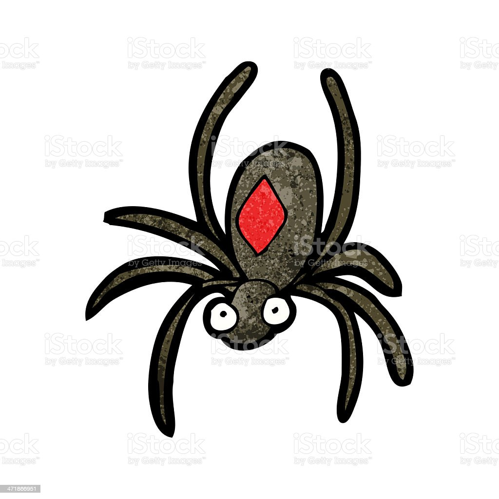 Black Widow Spider Cartoon Stock Illustration Download