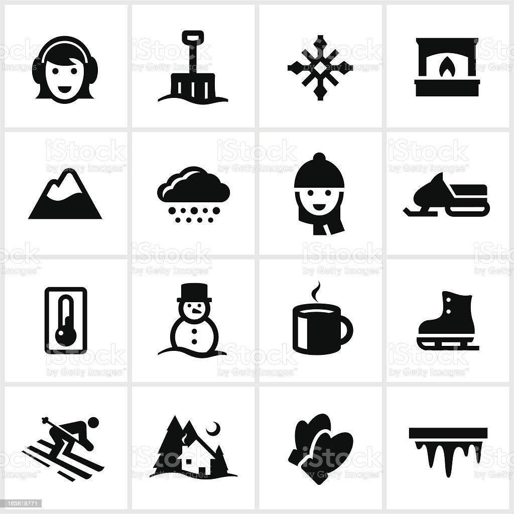 Black Winter Icons royalty-free stock vector art