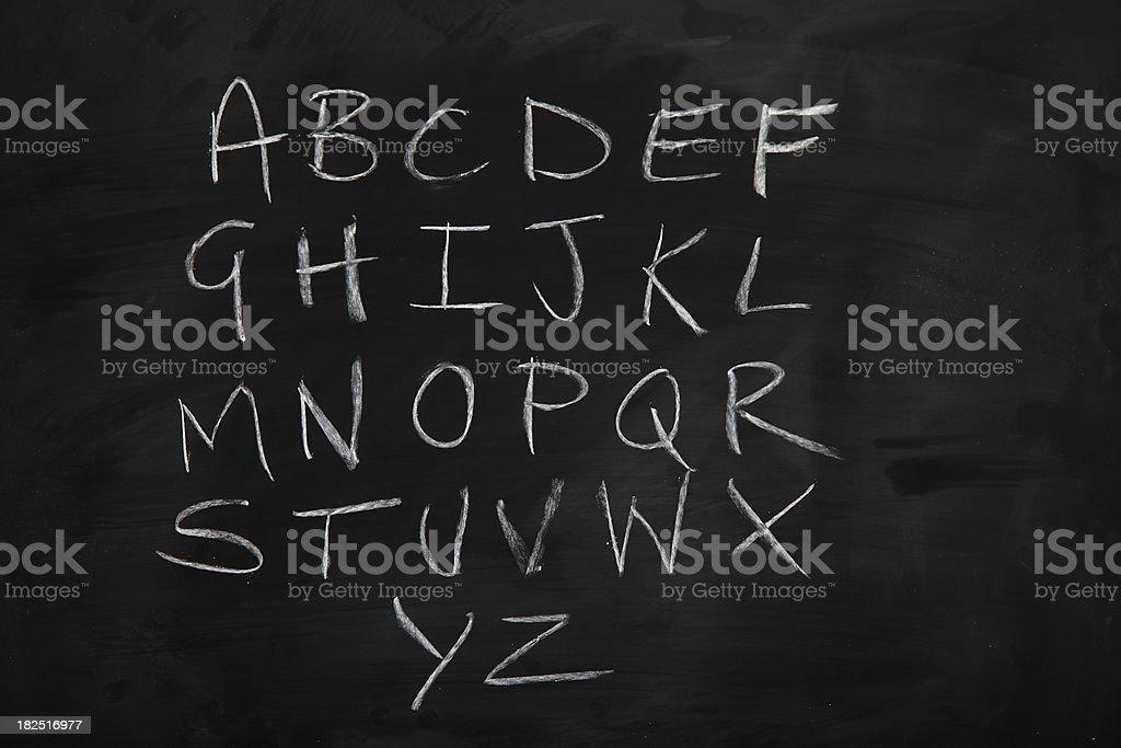 Blackboard Alphabet royalty-free stock vector art