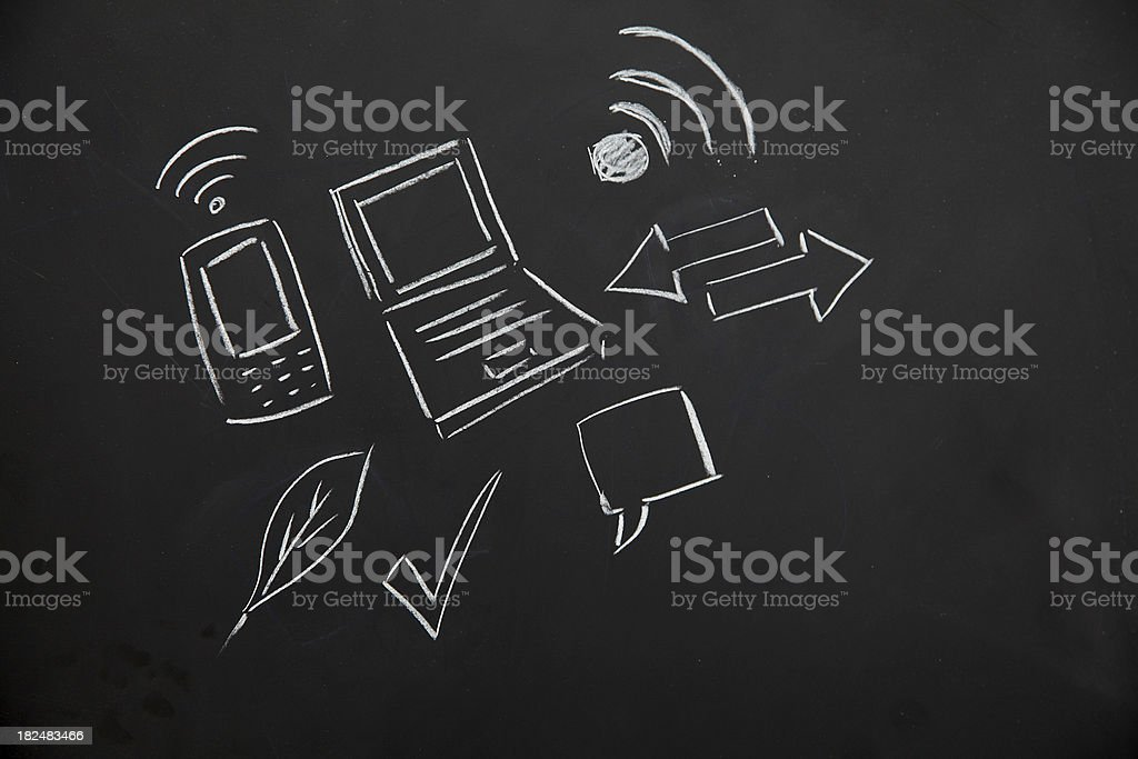 Blackboard icons royalty-free stock vector art