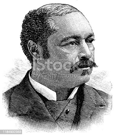 Engraving from 1886 showing Blanche Kelso Bruce who was a US Senator from Mississippi.