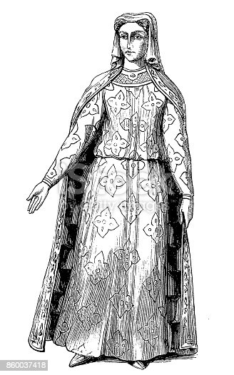 Illustration of a Blanche of Castile, Queen of France
