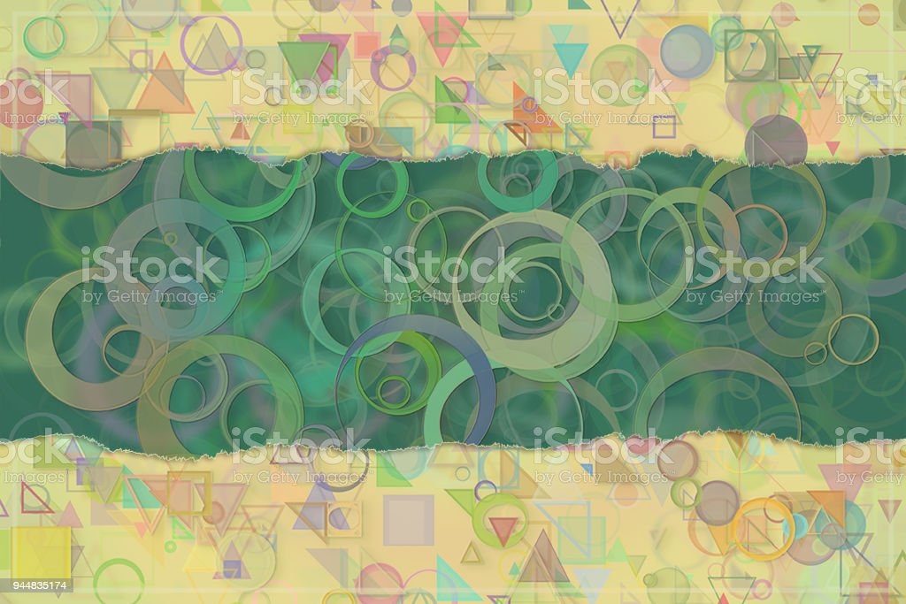 Blank abstract pattern background for name, caption or title. Shape, art, graphic, digital & decoration. vector art illustration