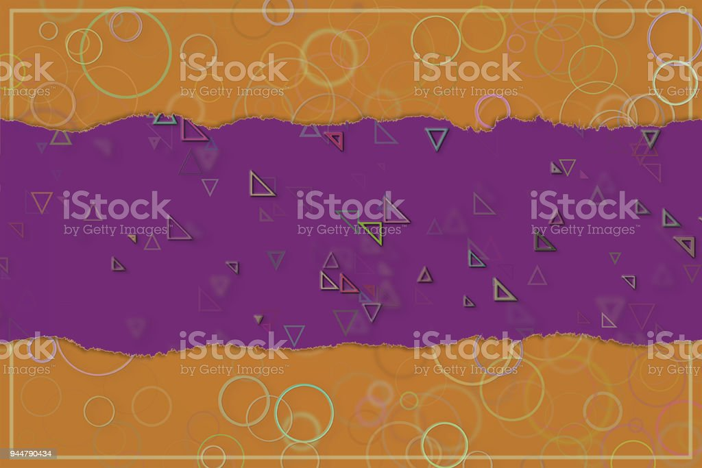 Blank abstract pattern background for name, caption or title. Shape, creative, wallpaper, colorful & illustration. vector art illustration