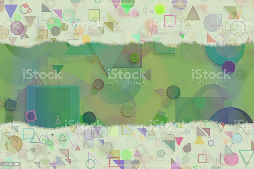 Blank abstract pattern background for name, caption or title. Shape, illustration, texture, creative & colorful. vector art illustration