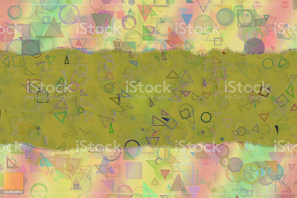 Blank abstract pattern background for name, caption or title. Shape, artwork, decoration, colorful & creativity. vector art illustration