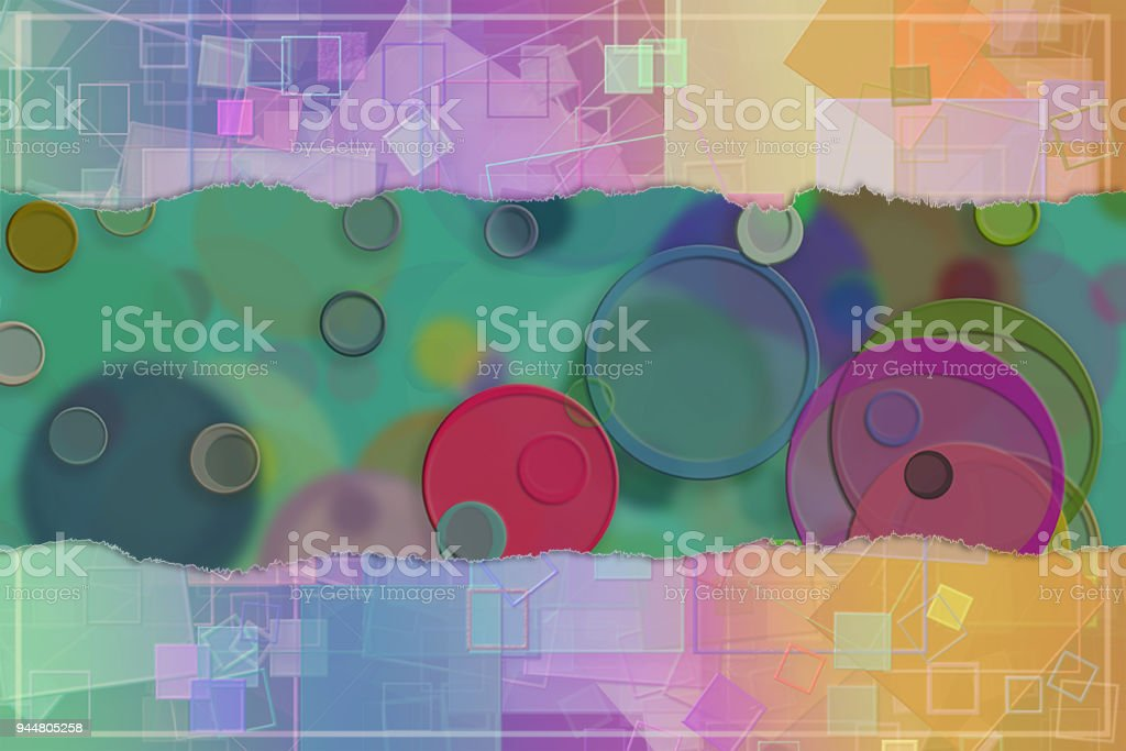 Blank abstract pattern background for name, caption or title. Shape, graphic, style, design & colorful. vector art illustration