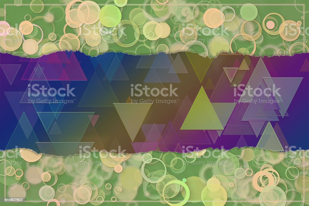 Blank abstract pattern background for name, caption or title. Shape, backdrop, design, style & decoration. vector art illustration