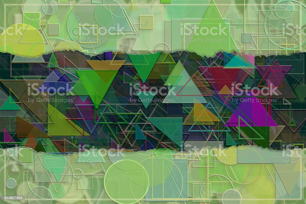 Blank abstract pattern background for name, caption or title. Shape, creativity, artwork, generative & wallpaper. vector art illustration