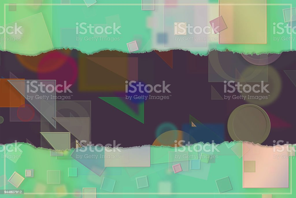 Blank abstract pattern background for name, caption or title. Shape, backdrop, decoration, design & creative. vector art illustration