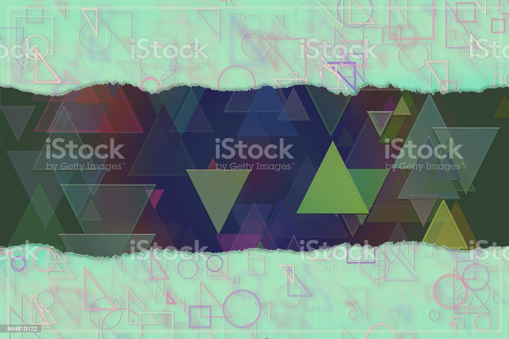 Blank abstract pattern background for name, caption or title. Shape, design, colorful, backdrop & decoration. vector art illustration