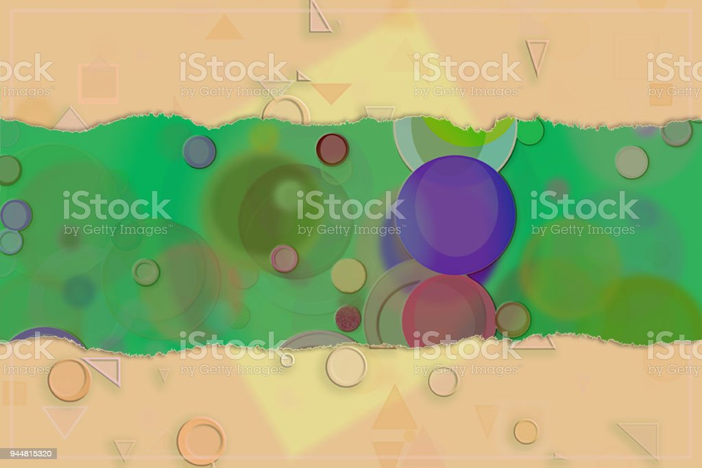Blank abstract pattern background for name, caption or title. Shape, wallpaper, decoration, design & texture. vector art illustration