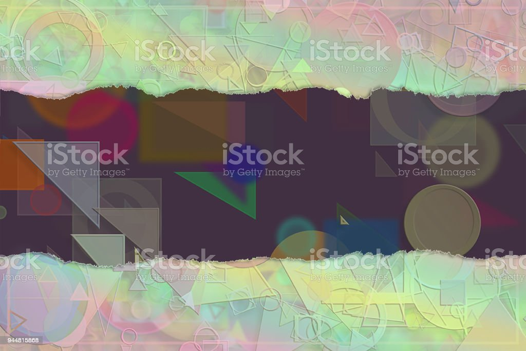 Blank abstract pattern background for name, caption or title. Shape, colorful, art, artwork & generative. vector art illustration