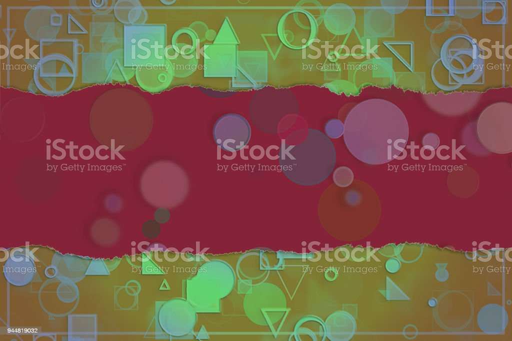 Blank abstract pattern background for name, caption or title. Shape, style, backdrop, graphic & decoration. vector art illustration