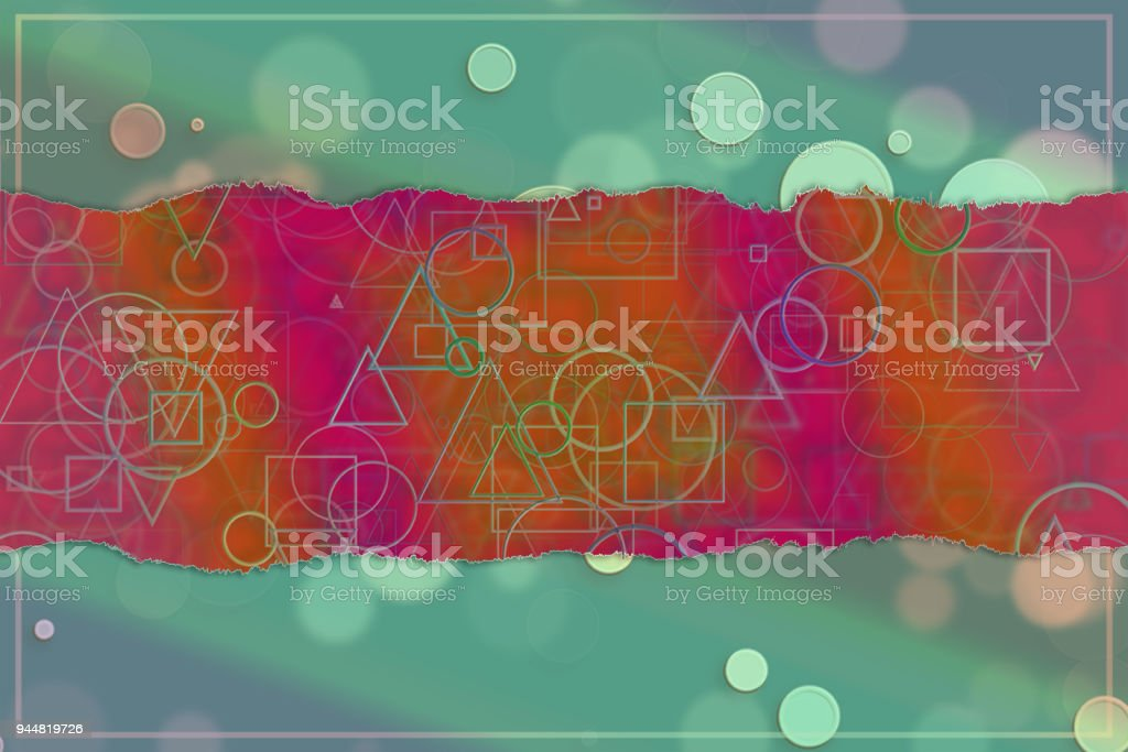 Blank abstract pattern background for name, caption or title. Shape, style, colorful, creativity & wallpaper. vector art illustration