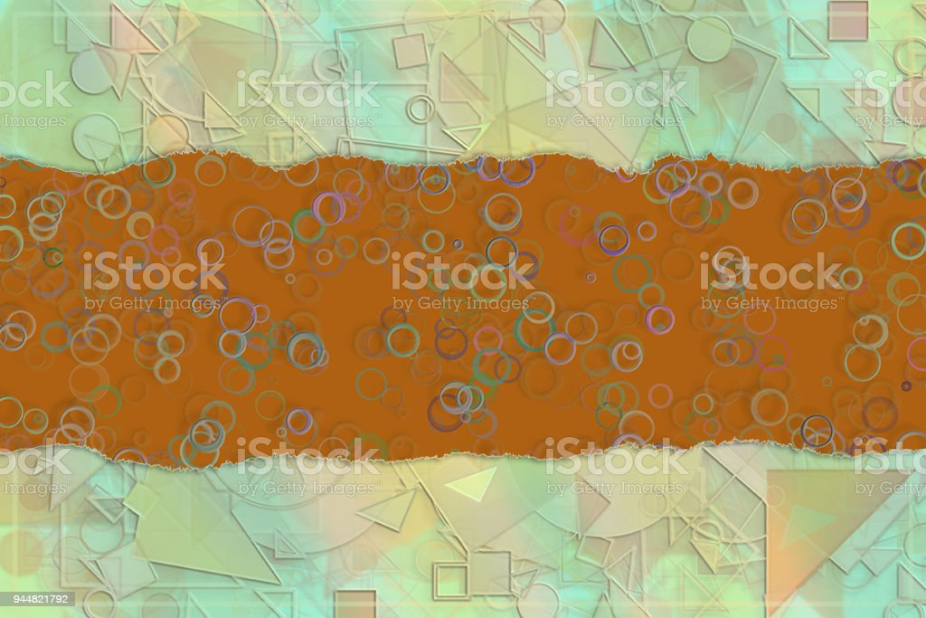 Blank abstract pattern background for name, caption or title. Shape, artwork, colorful, creativity & texture. vector art illustration