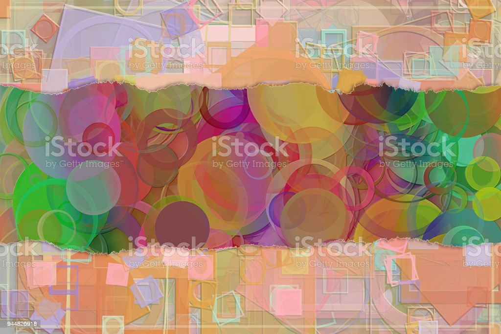 Blank abstract pattern background for name, caption or title. Shape, graphic, colorful, decoration & digital. vector art illustration