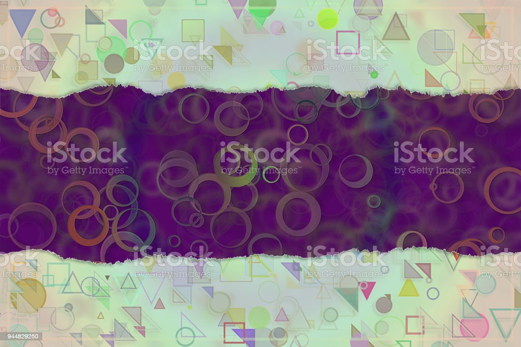 Blank abstract pattern background for name, caption or title. Shape, graphic, style, creativity & art. vector art illustration