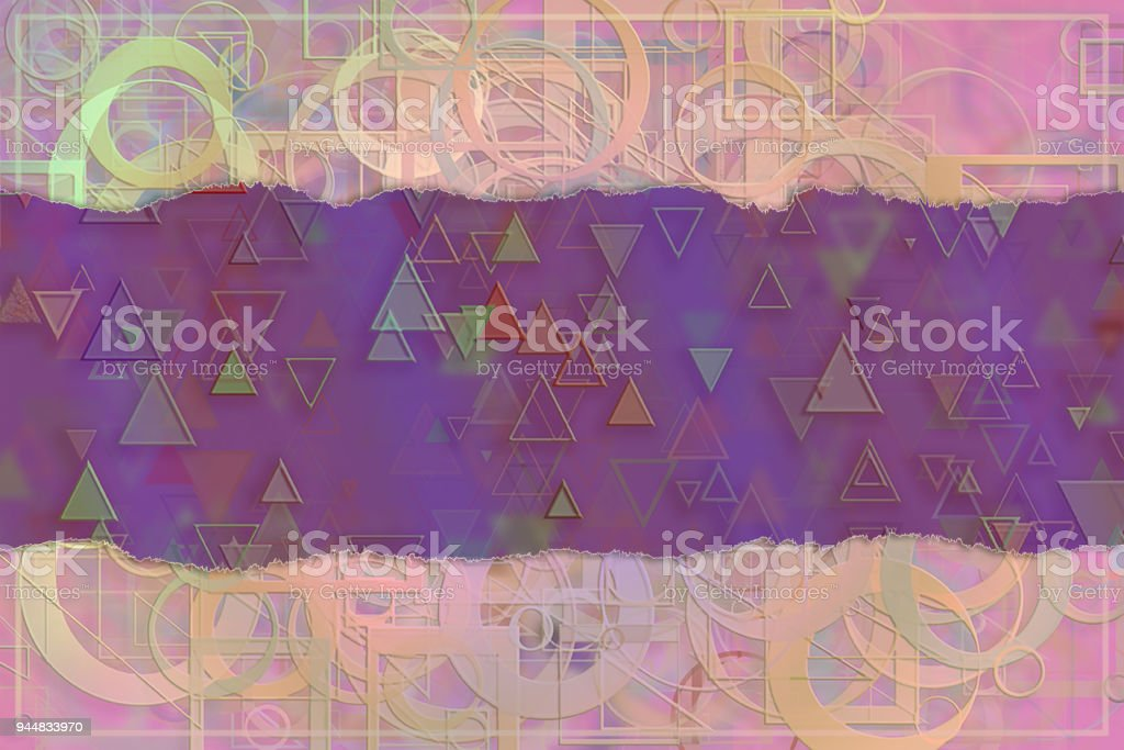Blank abstract pattern background for name, caption or title. Shape, wallpaper, creative, decoration & graphic. vector art illustration