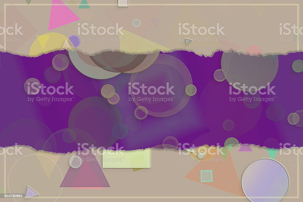 Blank abstract pattern background for name, caption or title. Shape, web, generative, art & creative. vector art illustration