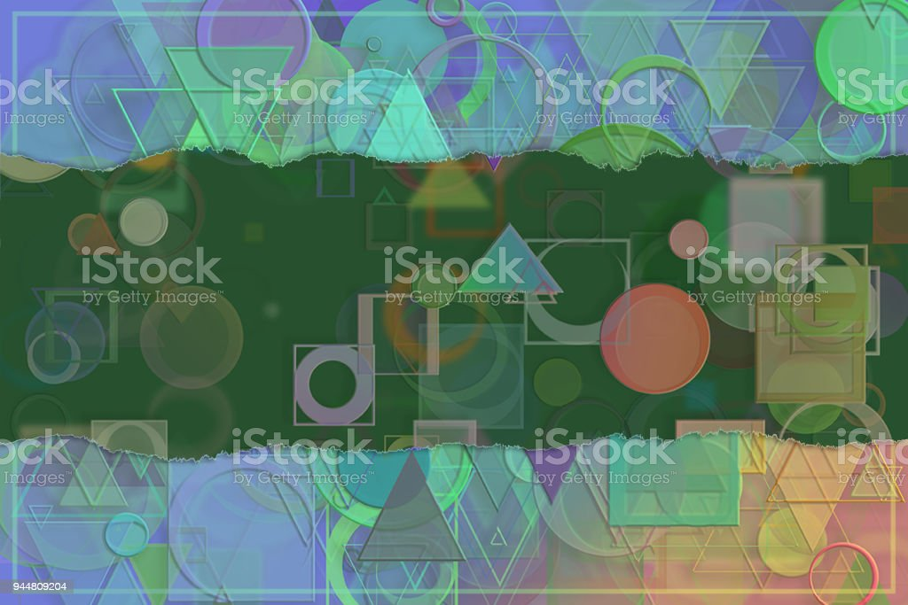 Blank abstract pattern background for name, caption or title. Shape, web, wallpaper, texture & decoration. vector art illustration