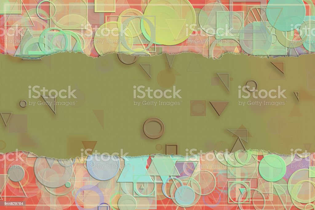 Blank abstract pattern background for name, caption or title. Shape, web, art, creative & creativity. vector art illustration