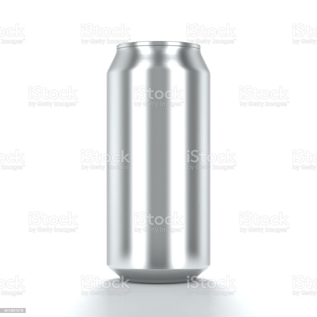 Blank Aluminum can for beer and other drink. Isolated can Mockup. 3d rendering vector art illustration