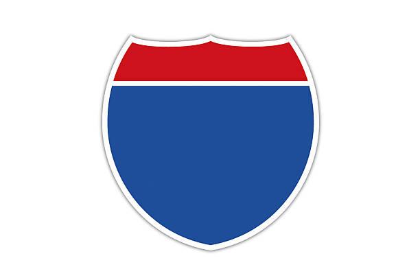 Blanco American la interestatal Highway. - ilustración de arte vectorial