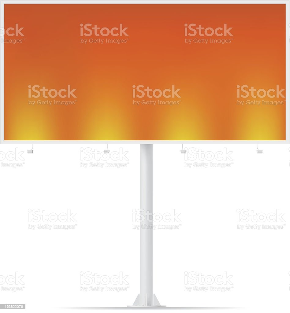 Blank billboard. vector art illustration