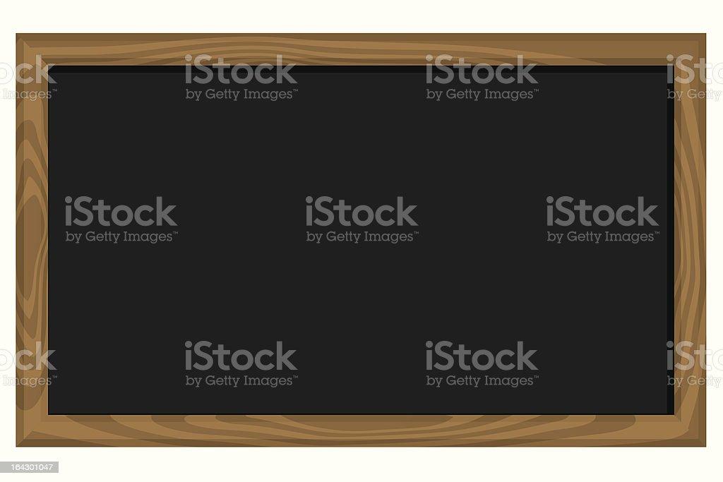 Blank blackboard royalty-free stock vector art