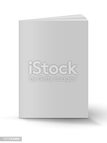 istock Blank book cover over white background 1272300681