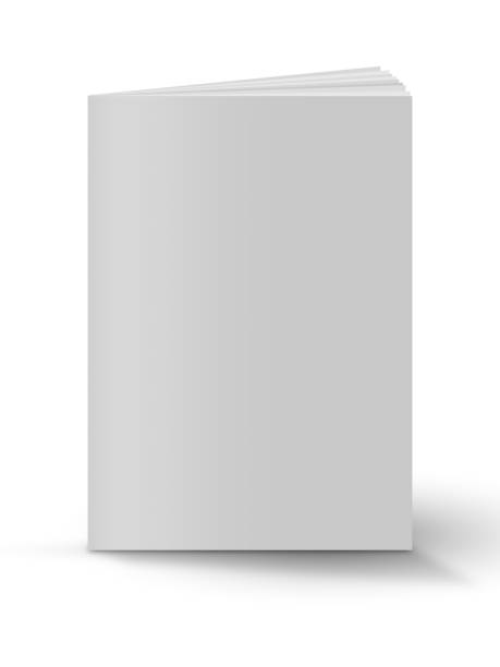 Blank book cover over white background Blank book cover over white background book clipart stock illustrations