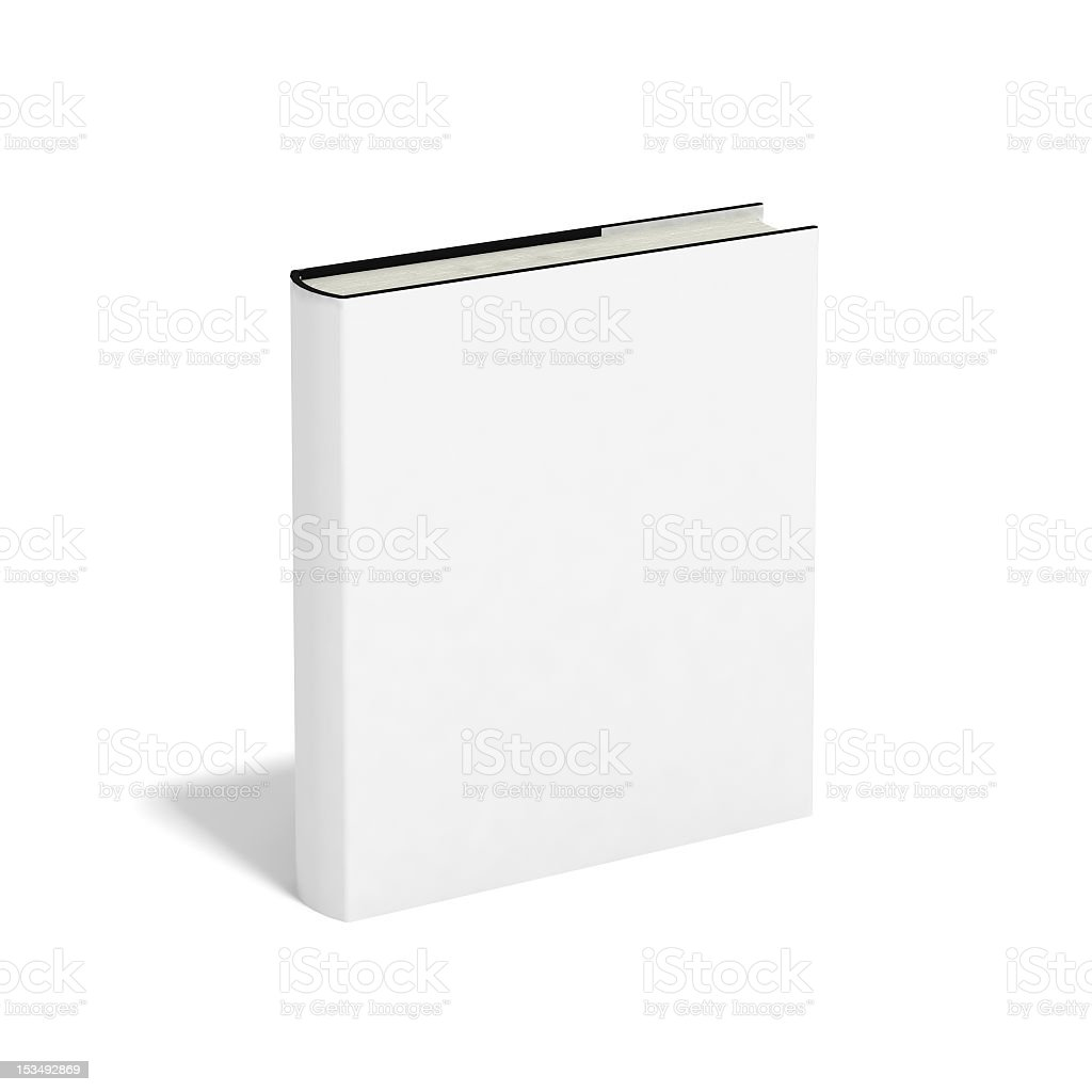 Blank book with white cover isolated on white background vector art illustration