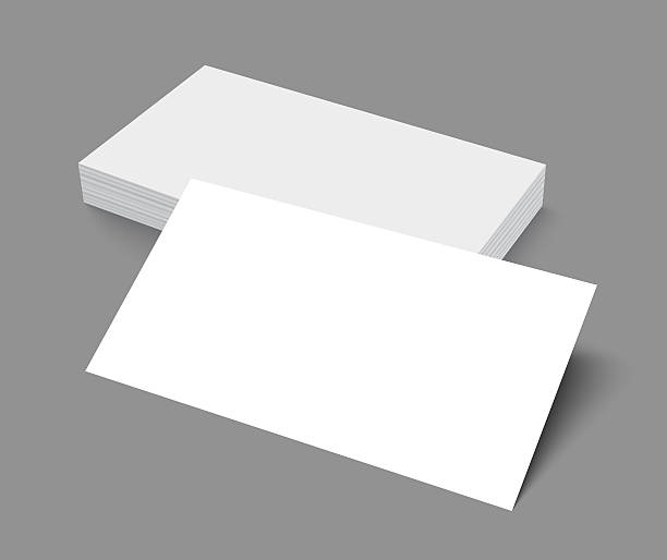 Royalty Free Business Card Stack Clip Art Vector Images - Plain business card template