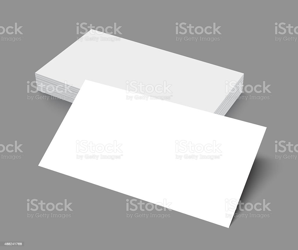 Blank Business Cards Template Mockup For Portfolio. Vector Art Illustration