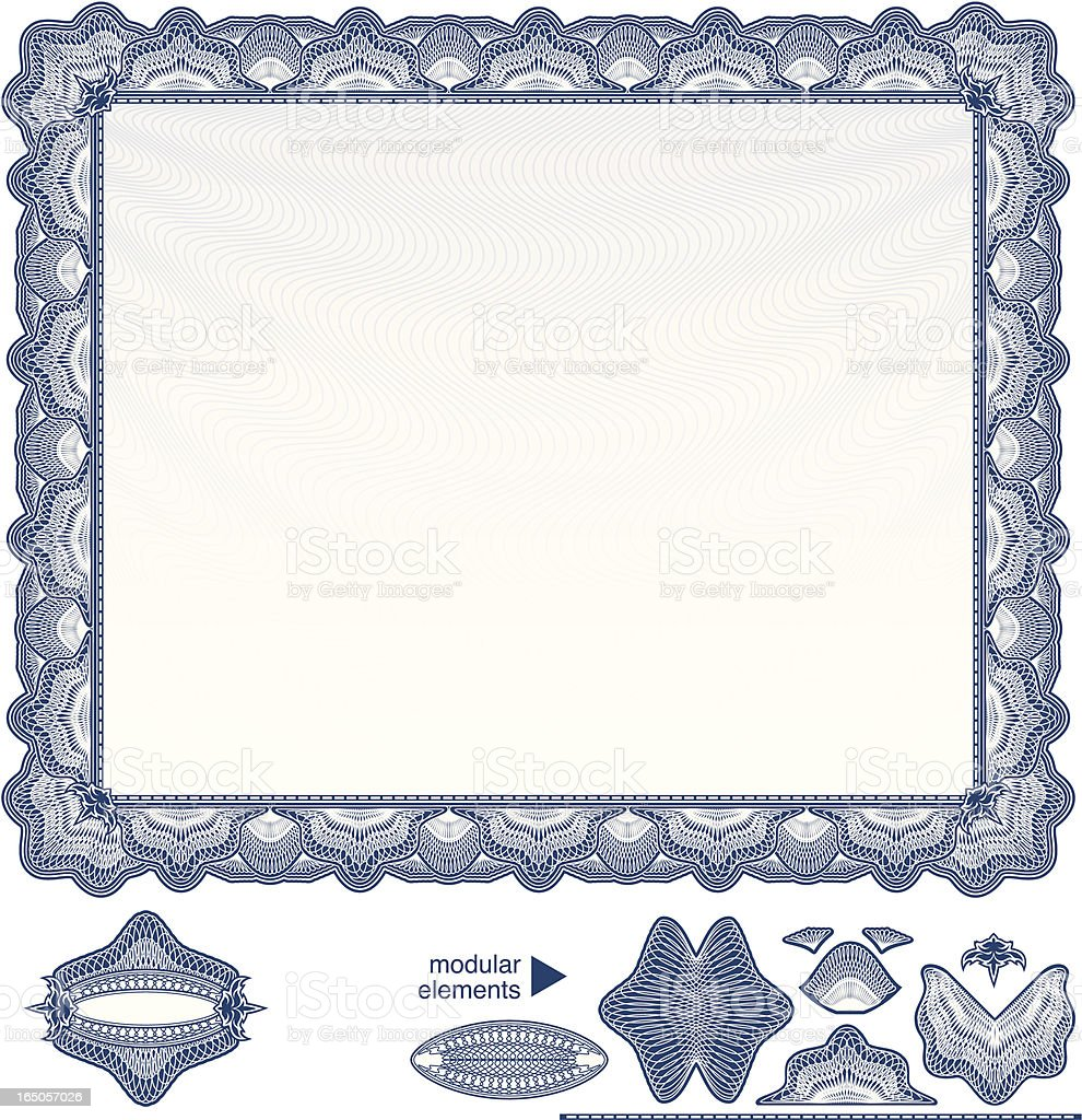 Blank Diploma or Certificate