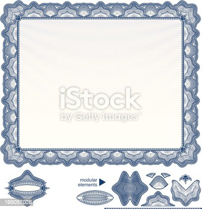istock Blank Diploma or Certificate 165057026