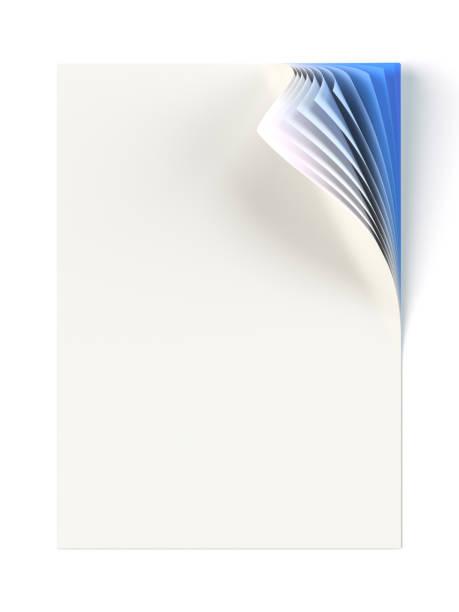 stockillustraties, clipart, cartoons en iconen met leeg document mock up met blauwe monochroom gekrulde hoek - netherlands map