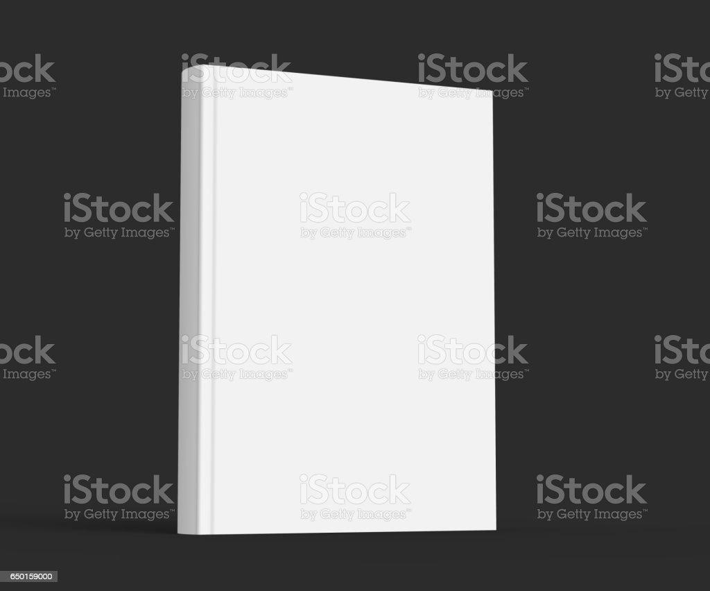 Blank hard cover book template vector art illustration