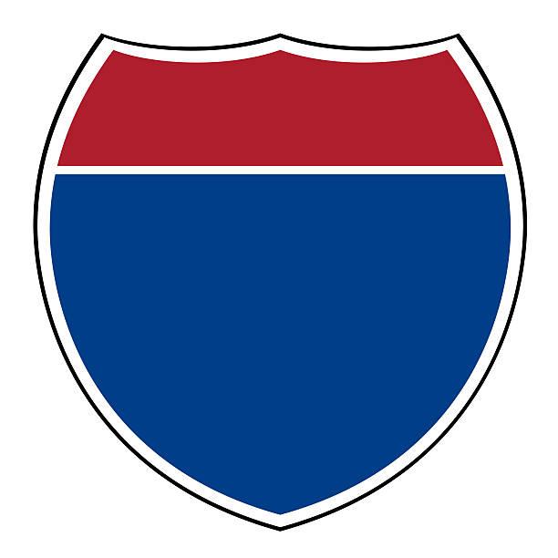Blanco de la interestatal highway shield - ilustración de arte vectorial