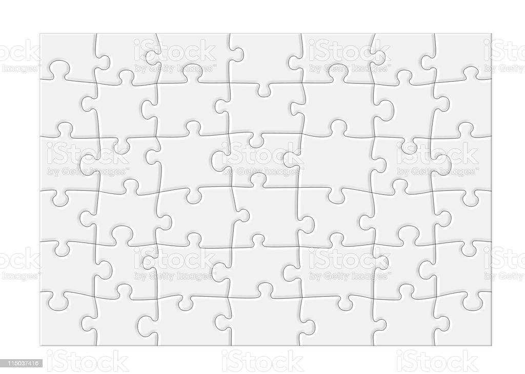 Blank Jigsaw Puzzle - XL vector art illustration