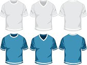 Blank mens t-shirt -set. See also