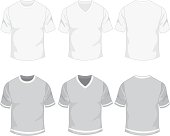 Blank mens t-shirt-set. See also
