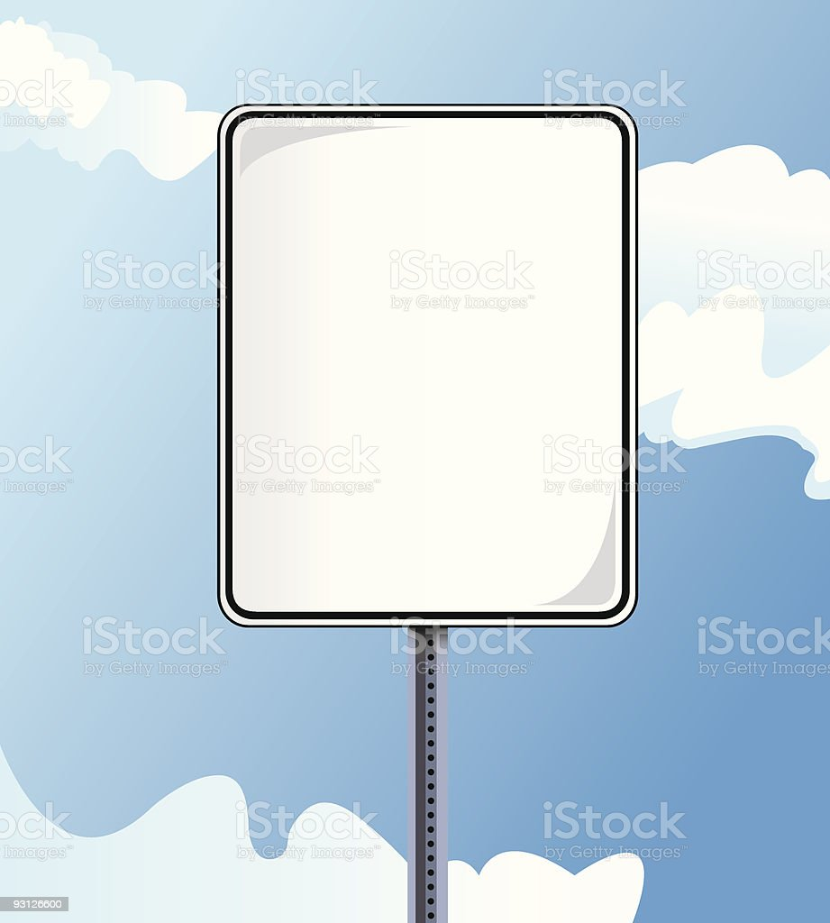 Blank Metal Street Sign royalty-free stock vector art