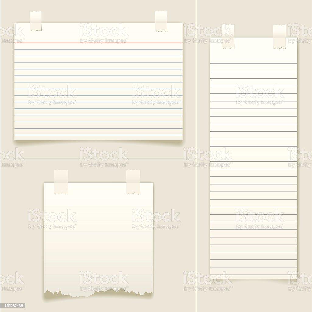 Blank Note Cards vector art illustration