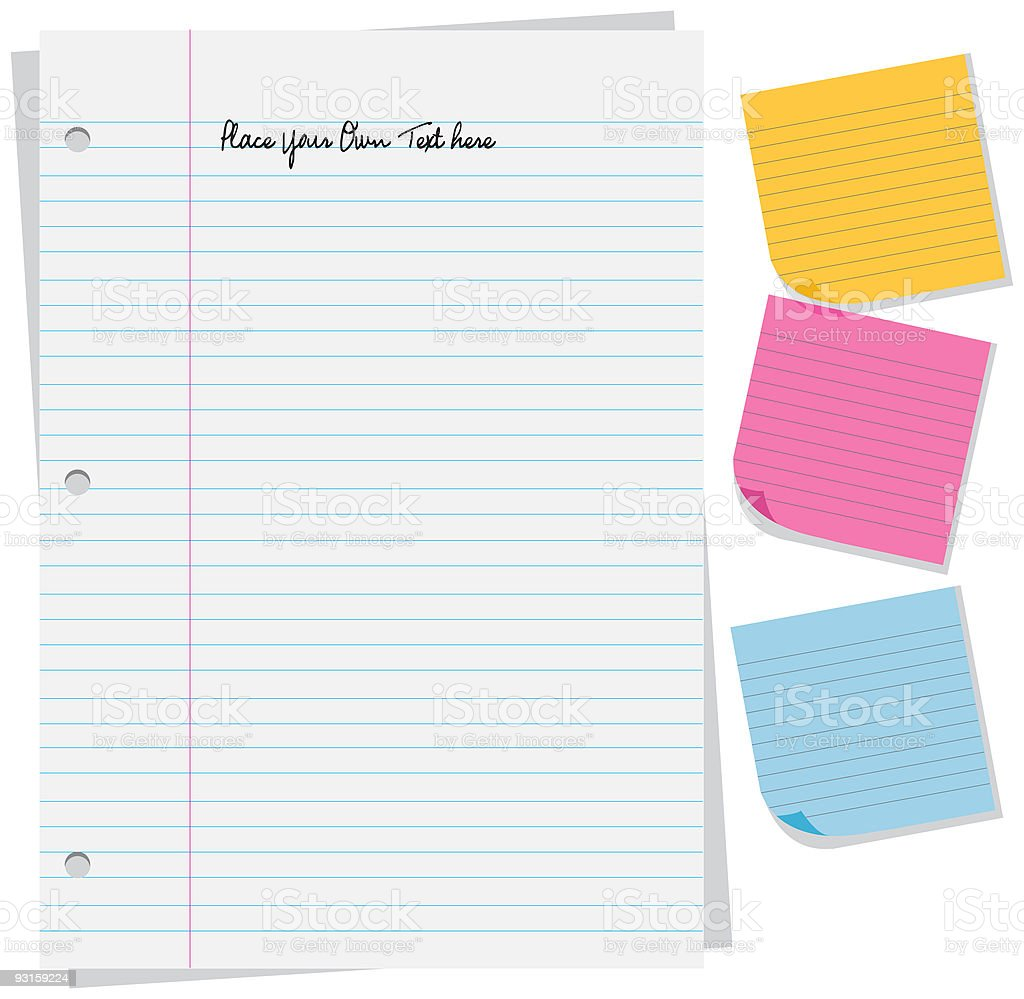 Blank Note Papers vector art illustration